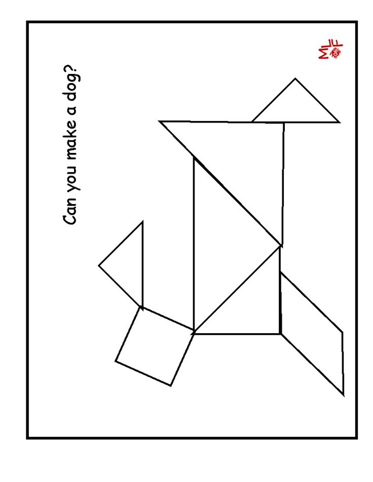 It is a photo of Genius Printable Tangram Patterns