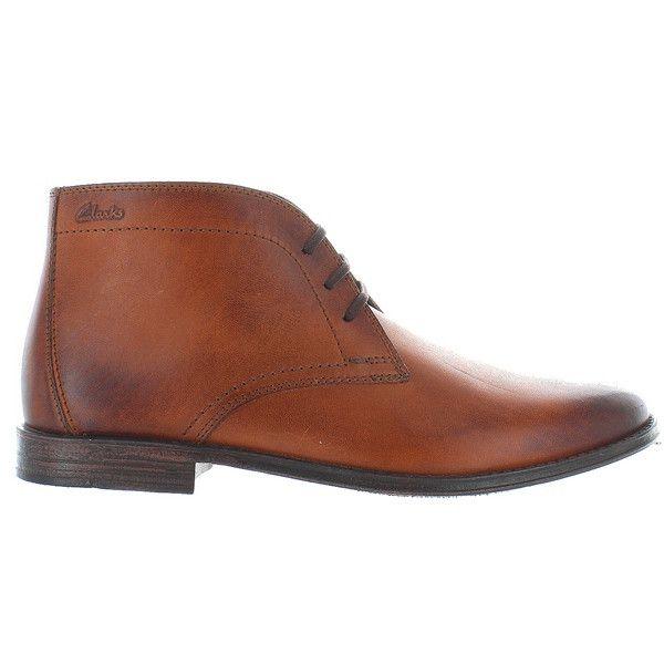 Clarks Hawkley Rise - Tan Leather Chukka Boot