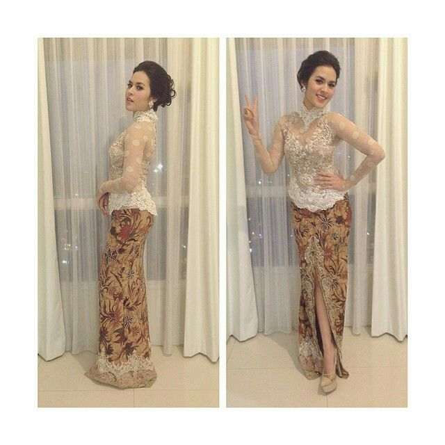 Raisa wearing Anne Avantie