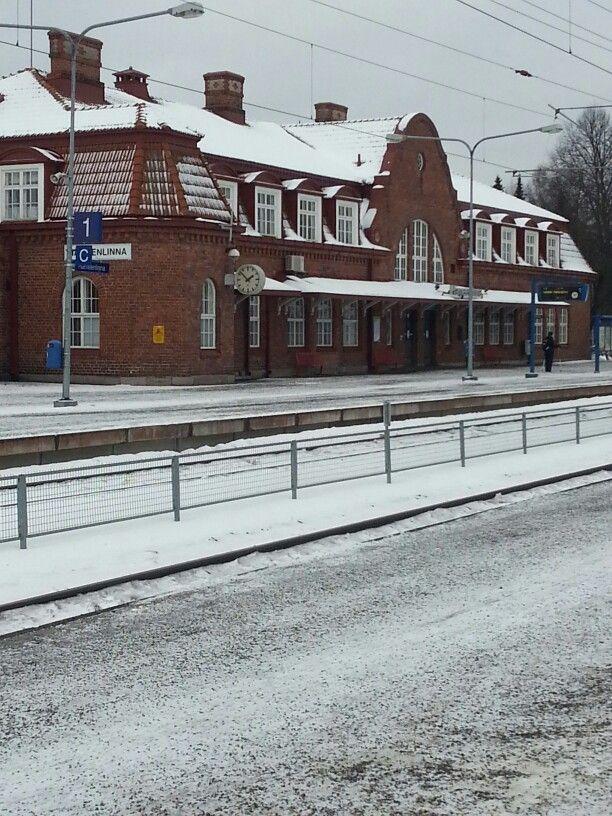 Winter time by Hämeenlinna railway station