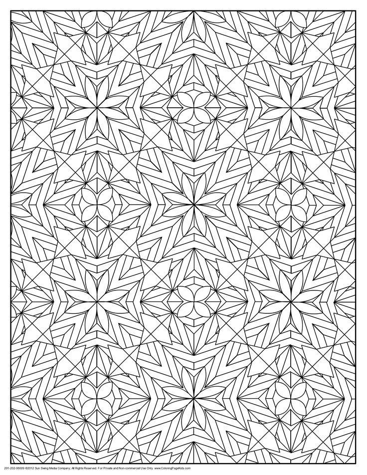 102 best Geometric Patterns Coloring Pages images on Pinterest
