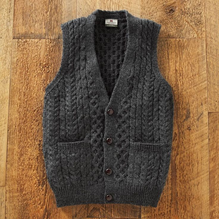 Men's Irish Sweater Vest - National Geographic Store