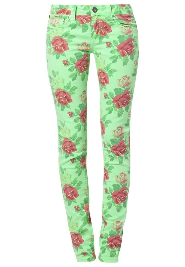 One Green Elephant KOSAI Jeans Slim Fit in neon green flower @Zalando