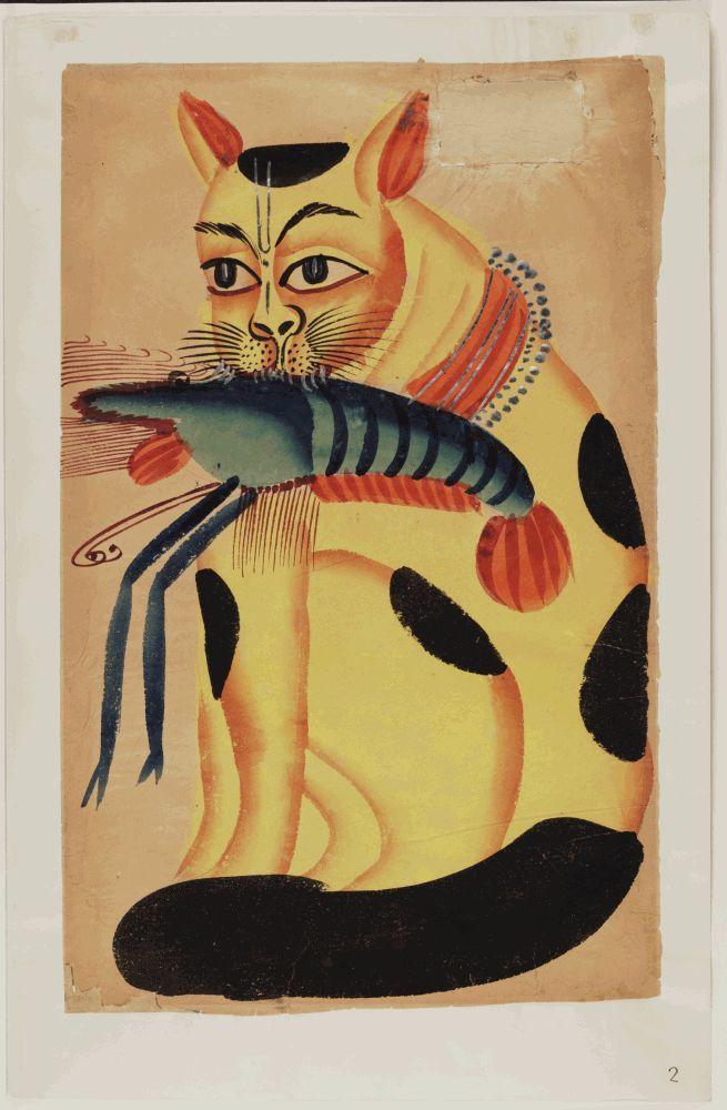Kalighat paintings - cat