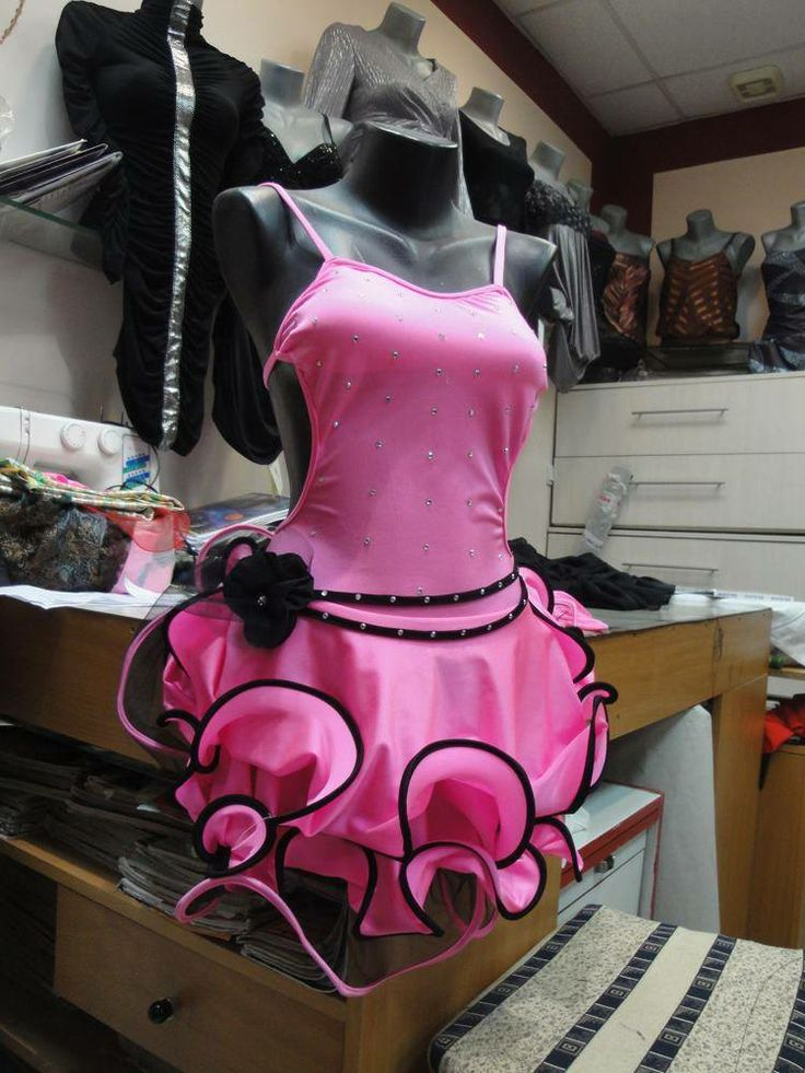 Pink Rose-Latin Dress ordered by client