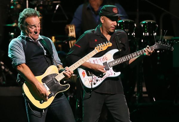 Bruce Springsteen and Tom Morello perform in Sydney, Australia.