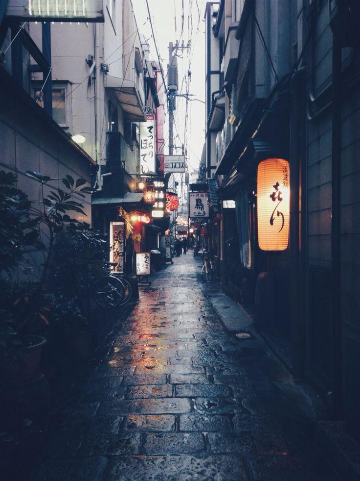 Narrow streets of Osaka, Japan (namba)