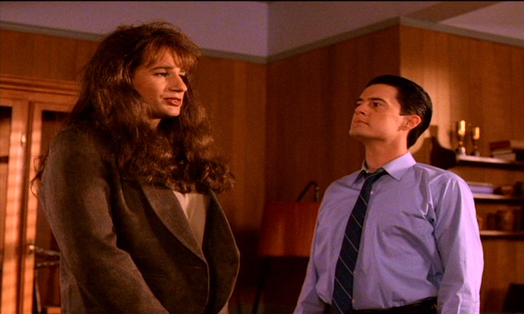 David Duchovny and Kyle Maclaughin in Twin Peaks