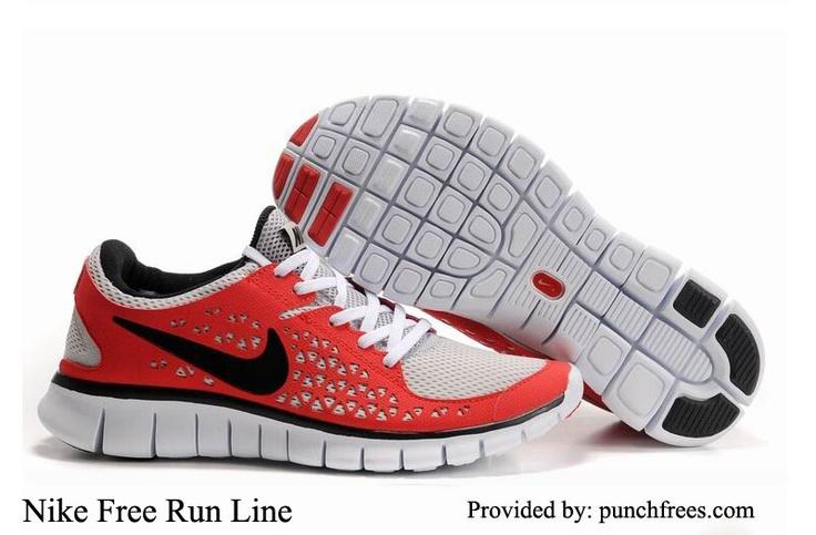 Mens Nike Free Running Shoes Run  Red Black White $59.99, www.punchfrees.com