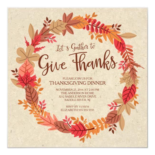 Create Your Own Invitation Zazzle Com Thanksgiving Dinner Invitation Thanksgiving Dinner Thanksgiving Invitation