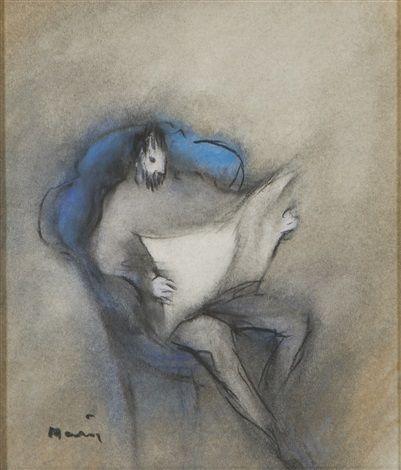 Reading man by Elvi Maarni