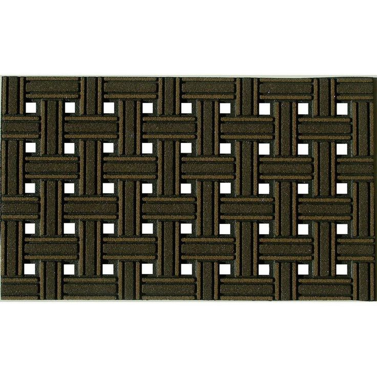 Apache Mills Weave Brown 18 In. X 30 In. Recycled Rubber Door Mat