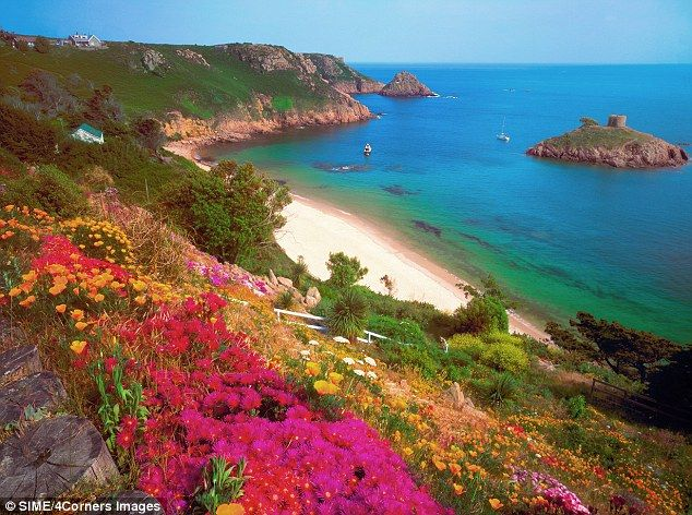Portlet Bay, Jersey Channel Islands, UK -- once part of France..still has French flare