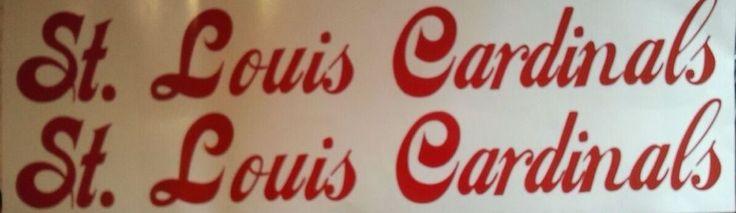 St Louis Cardinals CORNHOLE DECALS - 2 CORNHOLE Decals 2 Hole Decals