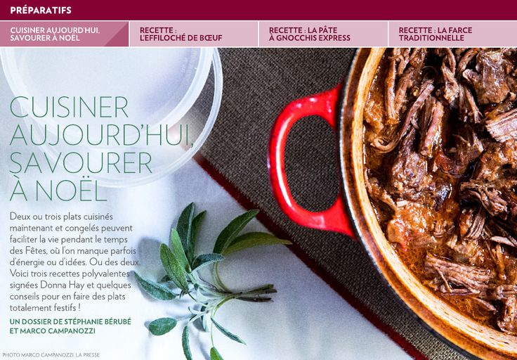 Cuisiner aujourd'hui, savourer à Noël - La Presse+