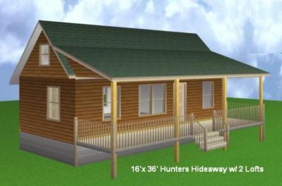 16x36 Cabin W 2 Loft Plans Package Blueprints House