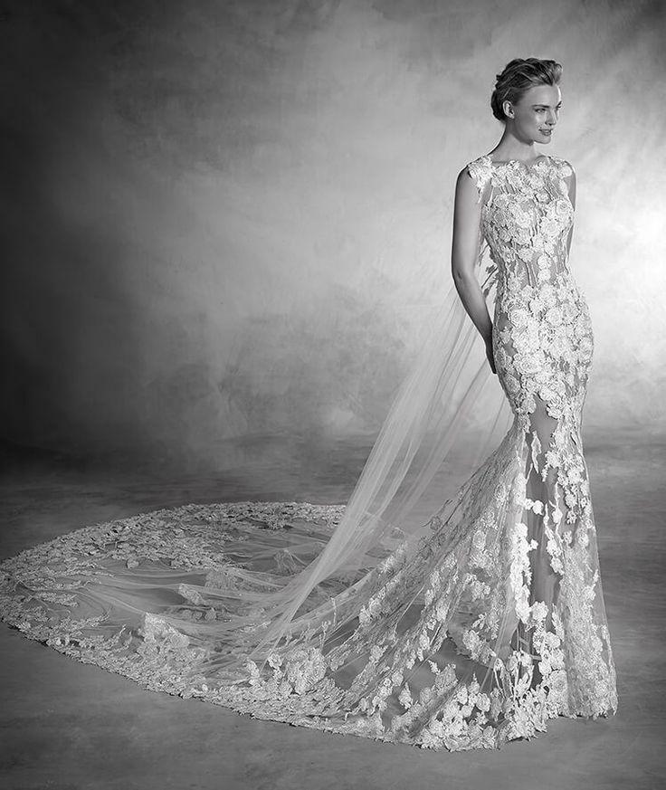 Natura - Sleeveless mermaid-cut tulle wedding dress
