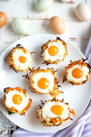 Sweet Potato Hashbrown Egg Nests