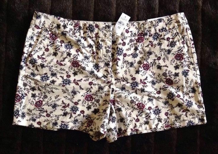 Ann Taylor Loft Women's Floral Shorts Sz 16 NWT / C #AnnTaylorLOFT #CasualShorts