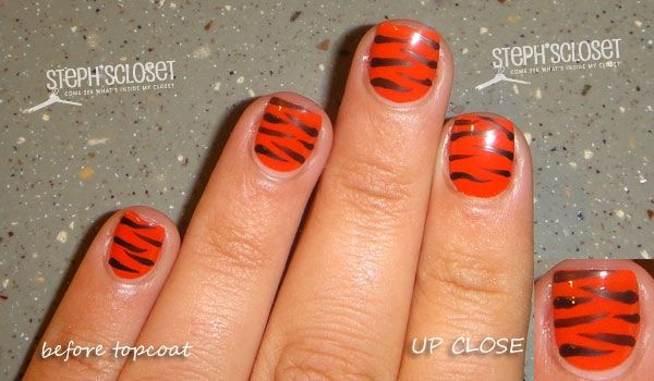 Tiger stripe tutorial  for the South Panola Tiger fans!