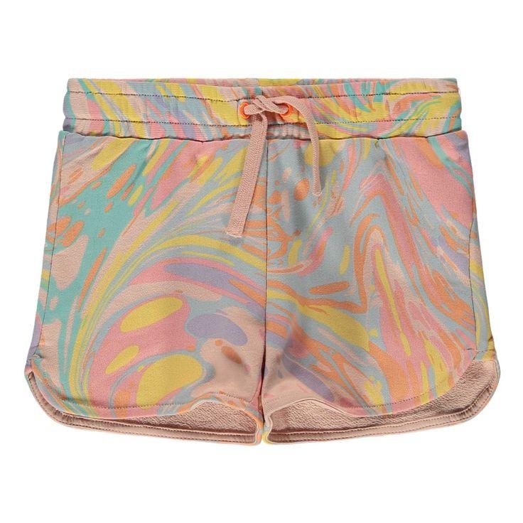 Beryl Marbled Organic Cotton Fleece Shorts-product