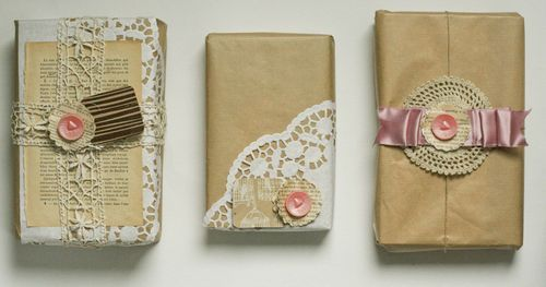 @Judy Grebeldinger - a way to use up some of those vintage cards and paper doilies AND apply your scrapbooking skills?!?