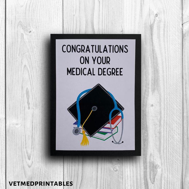 Doctor graduation card congradulations on your medical