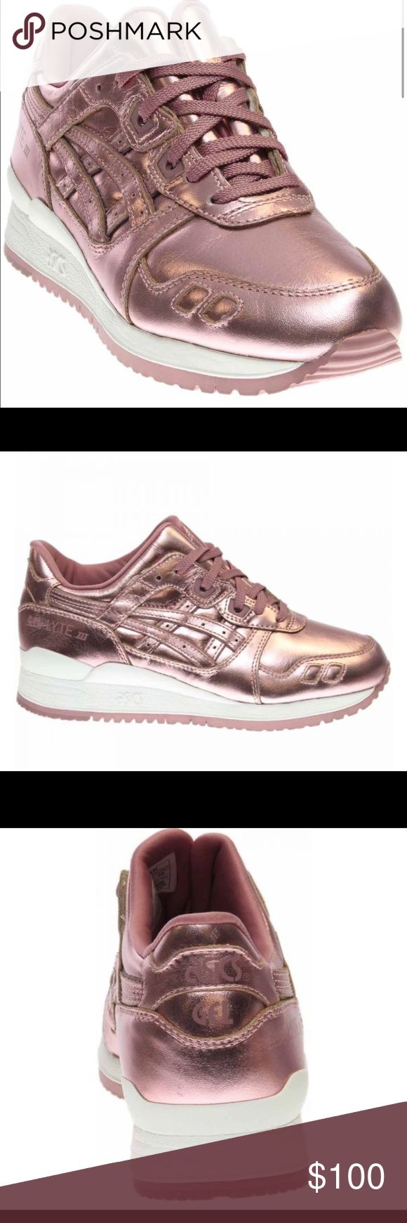 Related pictures split tongue jpg pictures to pin on pinterest - Asics Gel Lyte Iii Rose Gold Size 8 Sneakers Nwt Nwt