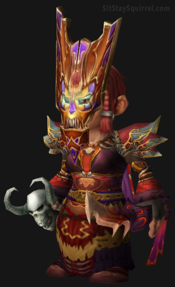 WoW Pink and Purple Gnome Mage Transmog