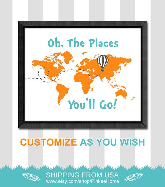 Best 25 map nursery ideas on pinterest travel nursery travel items similar to world map nursery dr seuss quotes wall decor oh the places you will go boys room decor boys gift dr seuss nursery wall art baby shower sciox Choice Image