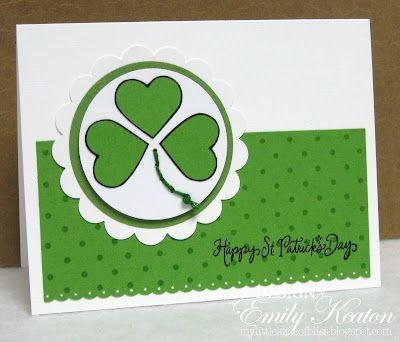DeNami Green Irish Clover card by Emily