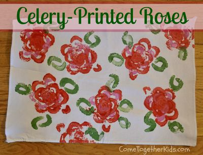 Come Together Kids: Celery Printed Roses