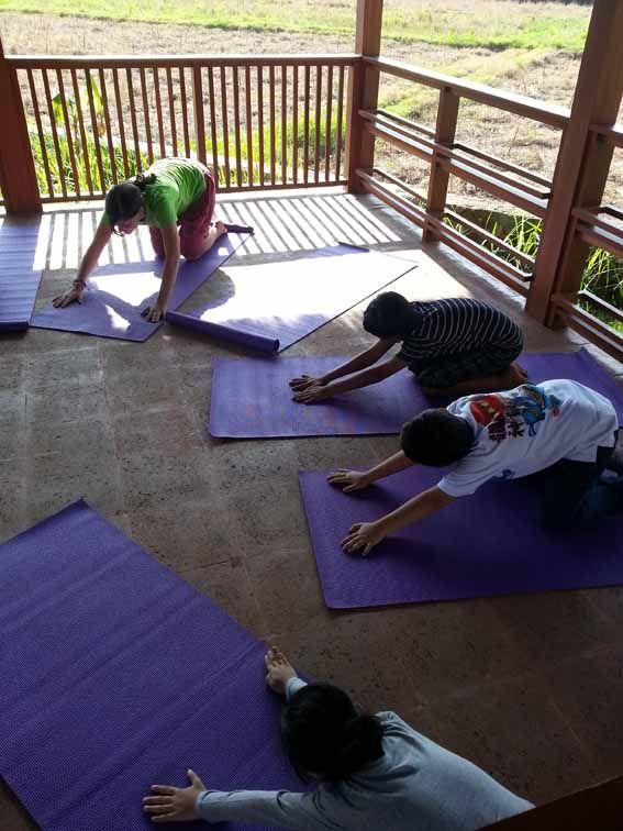 kids yoga at trihita alam