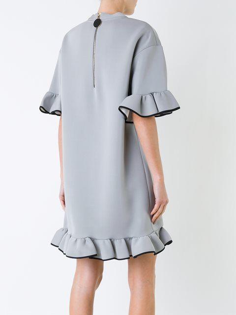 Marni платье-толстовка с рюшами