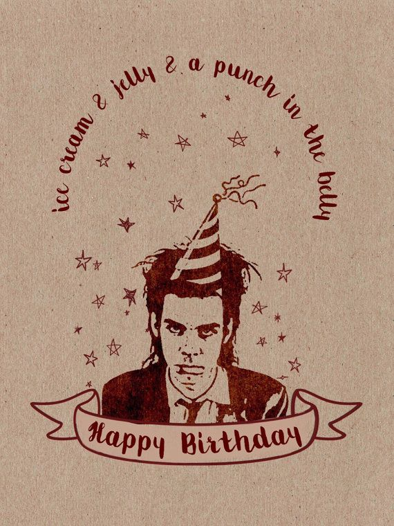 Nick Cave Song Lyric Card by HitTheNorthVintage on Etsy