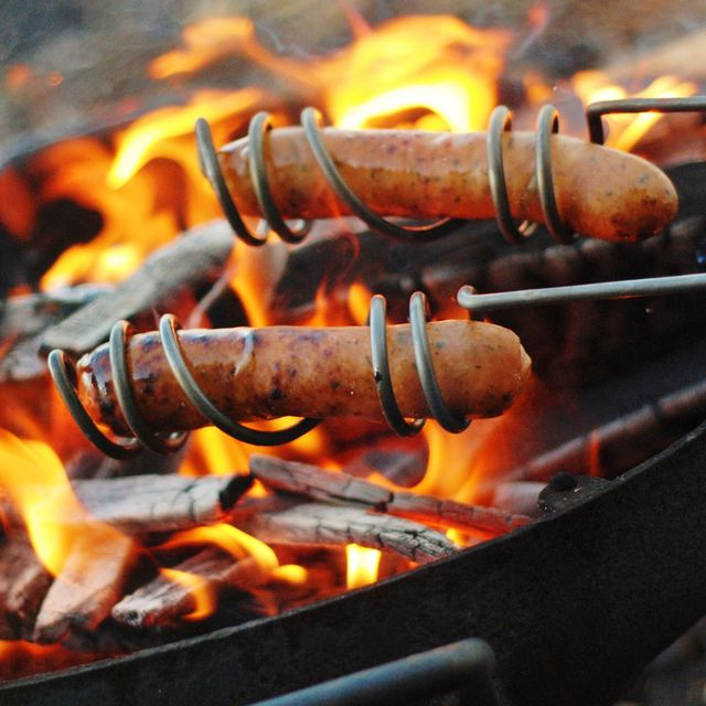 """Awesome hotdog """"cookers"""" for the campfire..."""