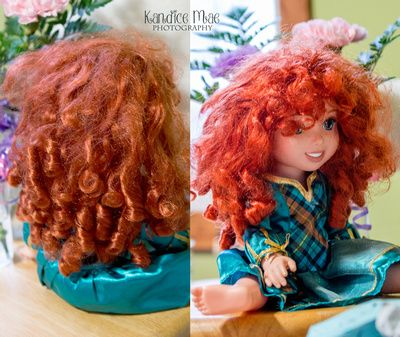 DIY Fixing doll hair.  Curly, straight, and wavy.  Great way to smooth out Disney doll hair or Barbie hair.  This is not made for American girl dolls hair.