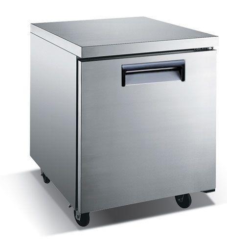 Stainless Steel Solid Door Undercounter Freezer – 27″, 1 Door