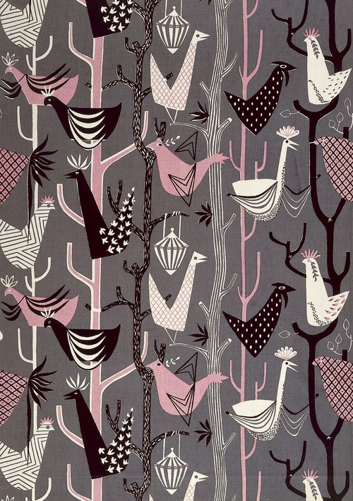 henry moore textile design, circa 1950s    Interesting Henry Moore, I never knew he did any fabrics!