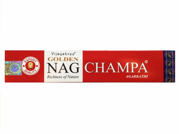 #Vijayshree #Red Pack #Golden #Nag #Champa #Incense Sticks - by #Bindidesigns