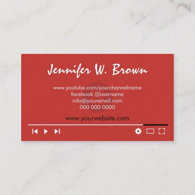Film Maker Director Editor Business Cards Kitue Director Youtuber Blogger Filmmaker Cool Business Cards Business Cards Business