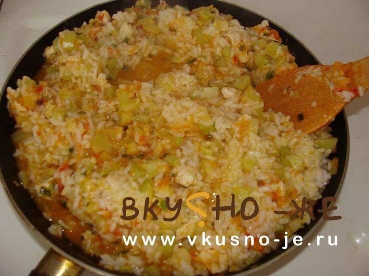 Рис тушеный с овощами — рецепт с мясом индейки и кабачком
