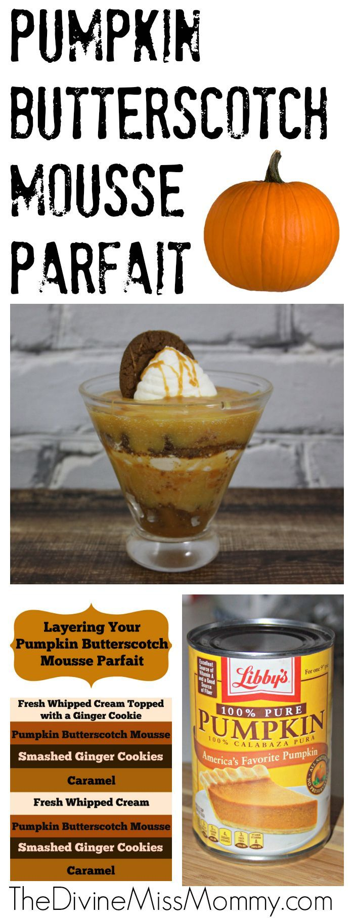 Pumpkin Butterscotch Mousse Parfait