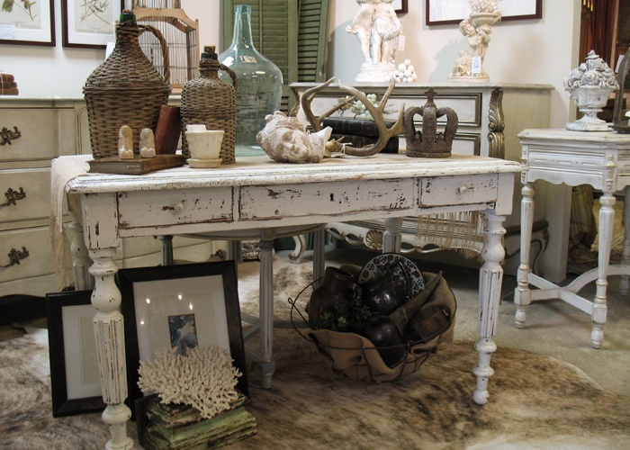 Painted Furniture-French writing desk vignette