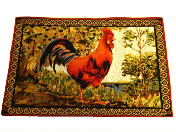 If You Need Quality Placemats To Decorate Your Country Or Rooster Themed  Kitchen You Have Found The Perfect Set. This Set Of 4 Tapestry Placemats Are