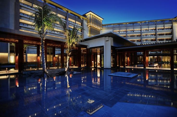 Reflecting Pool at the Anantara Sanya Resort & Spa   - Explore the World with Travel Nerd Nici, one Country at a Time. http://TravelNerdNici.com