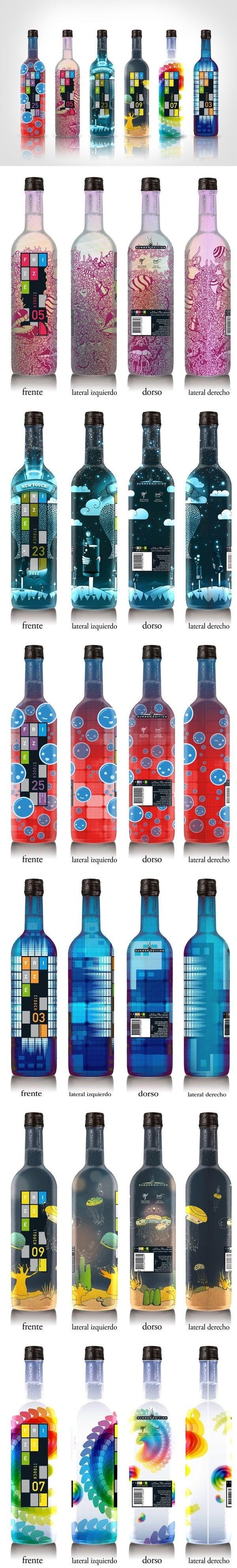 30 designs originaux & créatifs autour des bouteilles - Inspiration graphique #11   BlogDuWebdesign