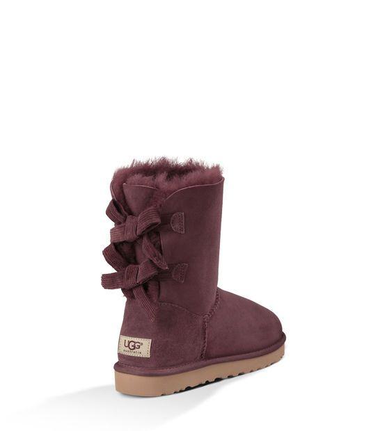 ugg australia womens mini bailey bow corduroy boot
