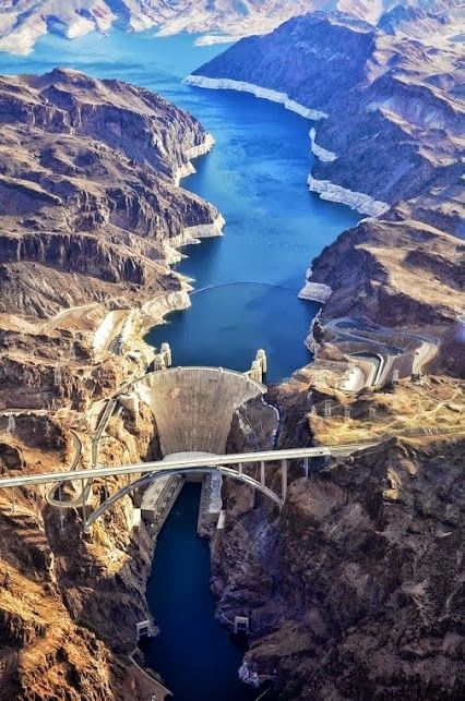 """Hoover Dam. """"Visit the dam gift shop"""""""