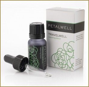 Travelwell – the blend of calm. Arrive  #revive.  Sometimes, travel can leave you feeling more crumpled than a suitcase full of linen trousers. Smooth things over with the #calm, #inspiring scent of #Bergamot  #Geranium. #PetalWell